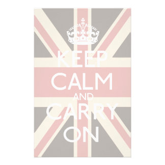 Keep Calm And Carry On Stationery Design