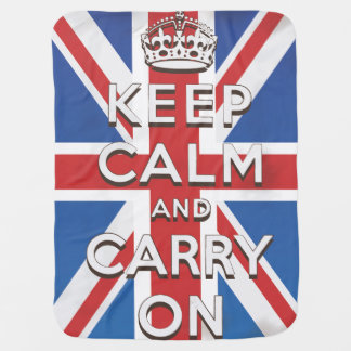 Keep Calm and Carry On Stroller Blankets