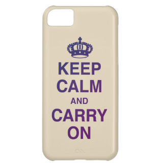 KEEP CALM AND CARRY ON tan Case For iPhone 5C