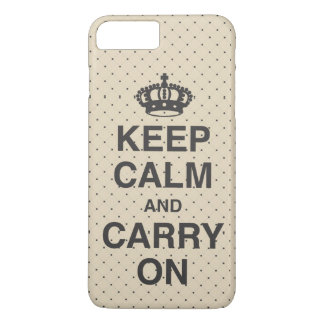 KEEP CALM AND CARRY ON / Tan Case-Mate iPhone Case