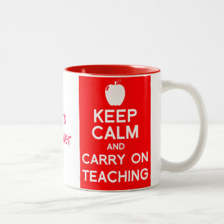 Keep calm and carry on teaching gift mug