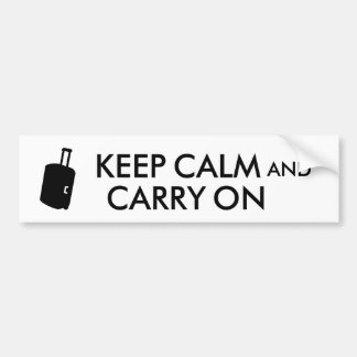 Keep Calm and Carry On Travel Custom Bumper Sticker