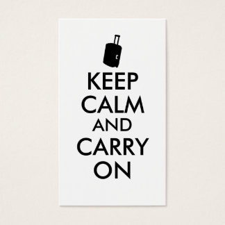 Keep Calm and Carry On Travel Custom Business Card