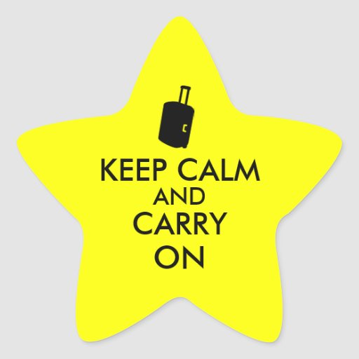 Keep Calm and Carry On Travel Custom Star Sticker