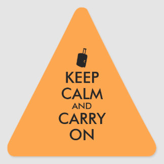 Keep Calm and Carry On Travel Custom Triangle Sticker
