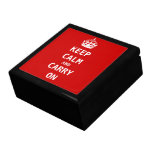 Keep Calm and Carry On Trinket Boxes