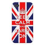 Keep calm and carry on -  Union Jack flag