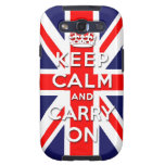 keep calm and carry on Union Jack flag Samsung Galaxy S3 Covers