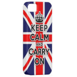 keep calm and carry on Union Jack flag iPhone 5 Case