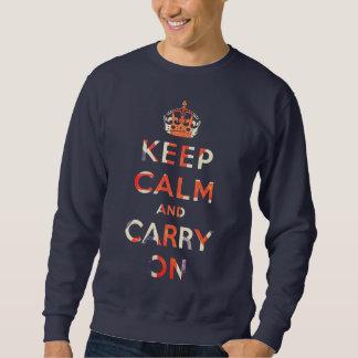 keep calm and carry on Union Jack flag Sweatshirt