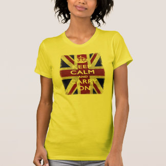 Keep Calm and carry on union Jack T-Shirt