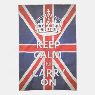 Keep Calm and Carry On United Kingdom Union Jack Hand Towels
