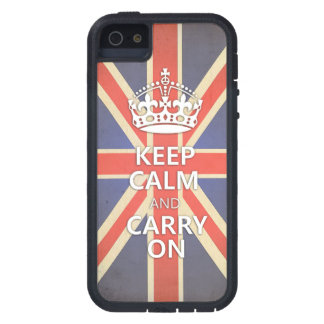 Keep Calm and Carry On United Kingdom Union Jack iPhone 5 Cases