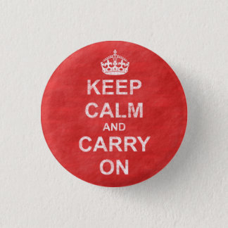 Keep Calm and Carry On Vintage 1 Inch Round Button