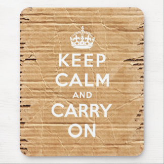 keep calm and carry on vintage cardboard mouse pad