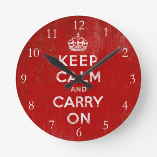 Keep Calm and Carry On, Vintage Clocks