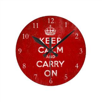 Keep Calm and Carry On, Vintage Clocks