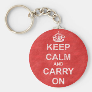 Keep Calm and Carry On Vintage Keychain