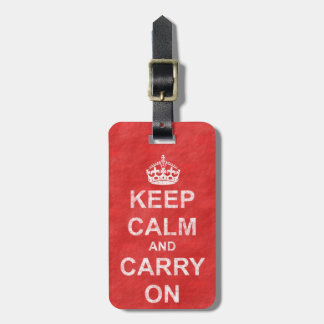 Keep Calm and Carry On Vintage Luggage Tag