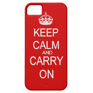 Keep Calm and carry on vintage red iPhone 5 Cases