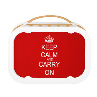 Keep Calm and Carry On vintage red Lunchbox
