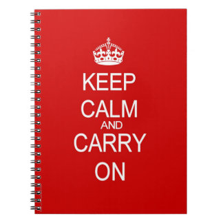 Keep Calm and Carry On Vintage Red Notebook