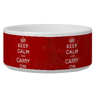 Keep Calm and Carry On, Vintage Red/White