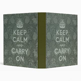 Keep Calm And Carry On Vinyl Binder
