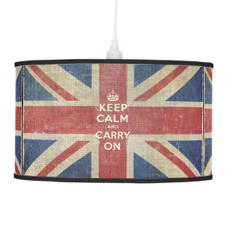 Keep Calm and Carry On with UK flag | Lamp