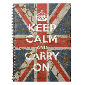 Keep Calm and Carry On with UK  Flag Note Book