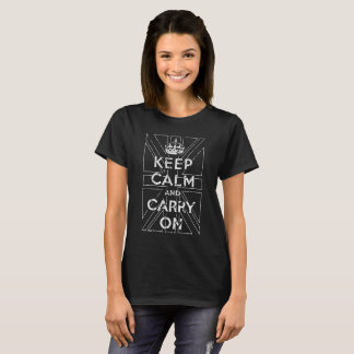 Keep Calm and Carry On with UK Flag, Technical, T-Shirt