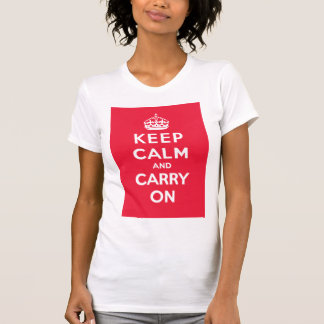 Keep Calm and Carry On_WOMENS T_RED T-Shirt