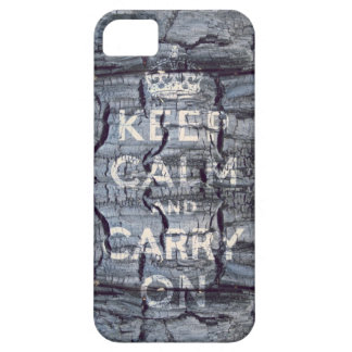 keep calm and carry on wooden grungy iPhone 5 case