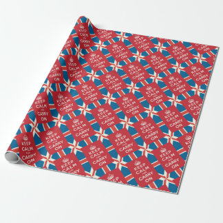 Keep Calm and Carry On Wrapping Paper