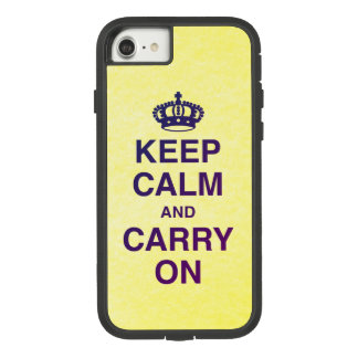 KEEP CALM AND CARRY ON yellow texture Case-Mate Tough Extreme iPhone 8/7 Case