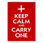Keep Calm and Carry One Cards