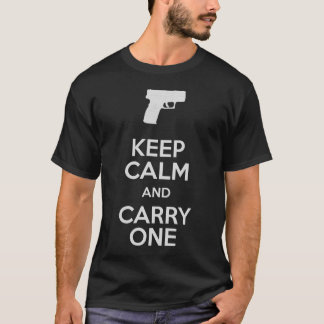 Keep Calm and Carry One Firearms XD SubCompact T-Shirt