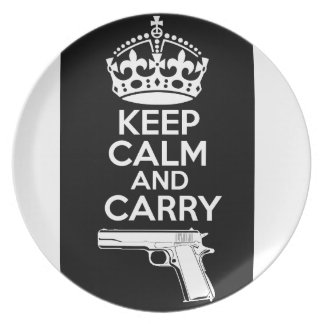 Keep Calm And Carry One Quote Dinner Plates