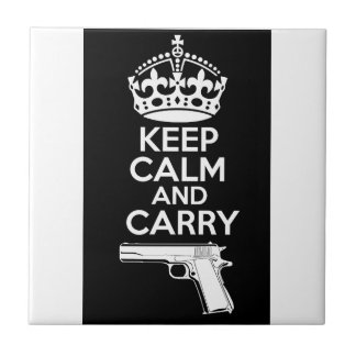 Keep Calm And Carry One Quote Tile