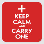 Keep Calm and Carry One Stickers