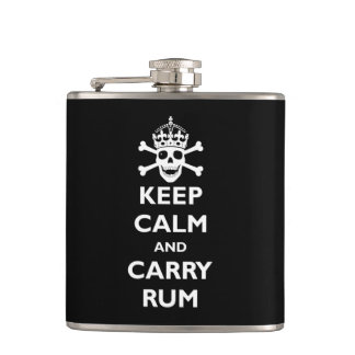 Keep Calm and Carry Rum Hip Flask