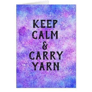 Keep Calm and Carry Yarn Purple Card