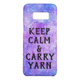 Keep Calm and Carry Yarn Purple Case-Mate Samsung Galaxy S8 Case