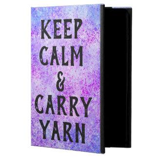 Keep Calm and Carry Yarn Purple iPad Air Case