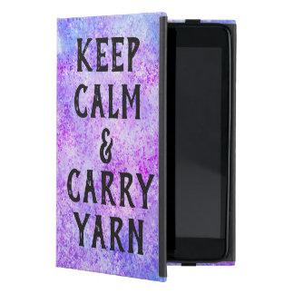 Keep Calm and Carry Yarn Purple iPad Mini Cover