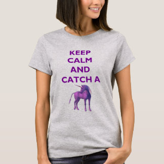 Keep Calm and Catch a Purple Unicorn T-Shirt