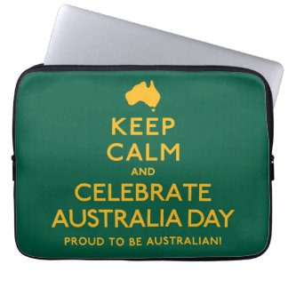 Keep Calm and Celebrate Australia Day! Laptop Sleeve