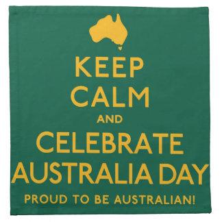 Keep Calm and Celebrate Australia Day! Napkins