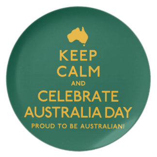 Keep Calm and Celebrate Australia Day! Plate