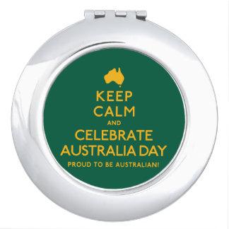 Keep Calm and Celebrate Australia Day! Travel Mirror